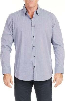 Johnny Bigg Levitt Regular Fit Check Stretch Button-Up Shirt