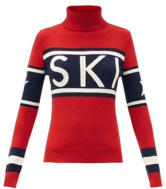 Perfect Moment Schild Ski-jacquard Roll-neck Wool Sweater - Red