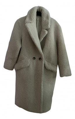 MANGO Beige Faux fur Coats