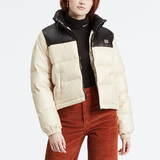 Levi's Two-Colour Short Down Padded Puffer Jacket with Pockets