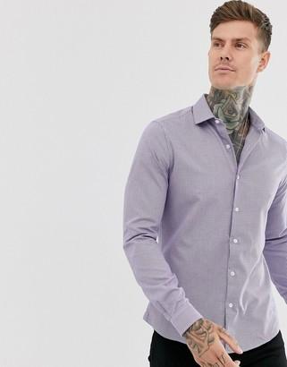 Topman grid check shirt in pink