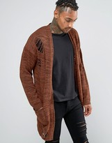 Asos Longline Cardigan with Laddering