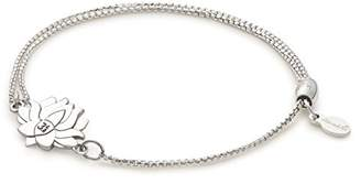 Alex and Ani Lotus Peace Petals Pull Chain Bracelet, Sterling Silver