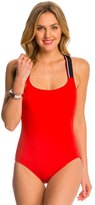 Tommy Hilfiger Signature Solid Cross Back One Piece Swimsuit 8125560