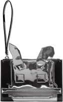 McQ by Alexander McQueen Black and Silver Electro Bunny Pouch