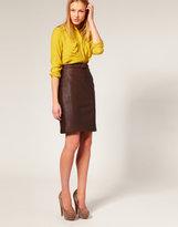 Gigi Leather Buckle Skirt