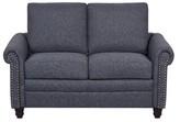 "Chloé 54.3"" Rolled Arm Loveseat Winston Porter Upholstery Color : Dark Gray"