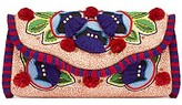 Tory Burch Embroidered Floral Clutch