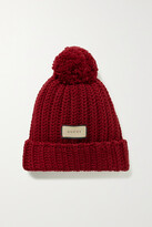 Thumbnail for your product : Gucci Pompom-embellished Ribbed Wool Beanie