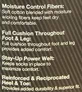Dickies Men's 4 Pack Marled Moisture Control Accented Heel Toe Crew Socks