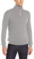 French Connection Men's Canvas Half Zip Sweater