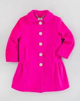 Milly Minis Zoey Peplum Coat, Shock Pink