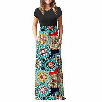NEEDRA SALES Women's Needra Maxi Bohemian Long Sleeve Casual Party Dress