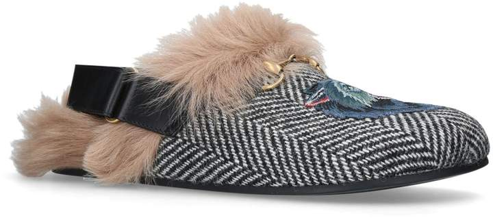 Gucci Wolf Slingback Slippers