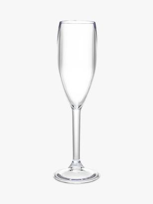 John Lewis & Partners Acrylic Champagne Flutes, 170ml, Set of 4