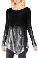 Women's Two By Vince Camuto Asymmetrical Metallic Ombre Sweater