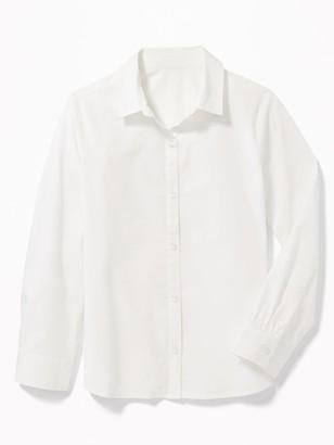 Old Navy Uniform Long-Sleeve Poplin Shirt for Girls