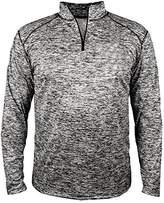 Badger Men's Sports Double-Needle Blend 1/4 Zip Jacket