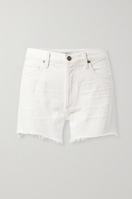 Citizens of Humanity Marlow Distressed Organic Denim Shorts - White