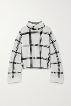 Stella McCartney Checked Stretch-knit Top - White
