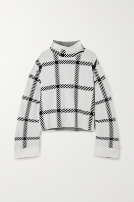 Stella McCartney + Net Sustain Checked Stretch-knit Top - White