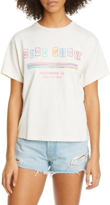 RE/DONE '90s Sideshow Oversize Graphic Tee