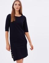 Armani Jeans Asymmetric Button Dress