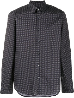 Theory Irving geometric print shirt