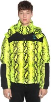 Off White Snake Print Tech Down Jacket