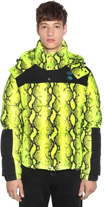 Off-White Off White SNAKE PRINT TECH DOWN JACKET