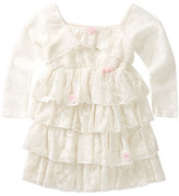 Little Mass Buttercup Lace Ruffle Dress (Toddler & Little Girls)