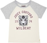 Juicy Couture Girls Fashion Track Graphic Colorblock Top
