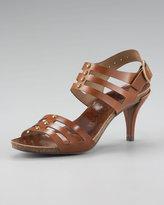 Pedro Garcia Studded Leather Cutout Sandal