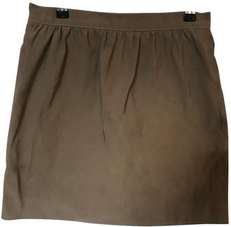 Lanvin Khaki Silk Skirt for Women