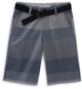 Calvin Klein Belted Engineered Stripe Shorts
