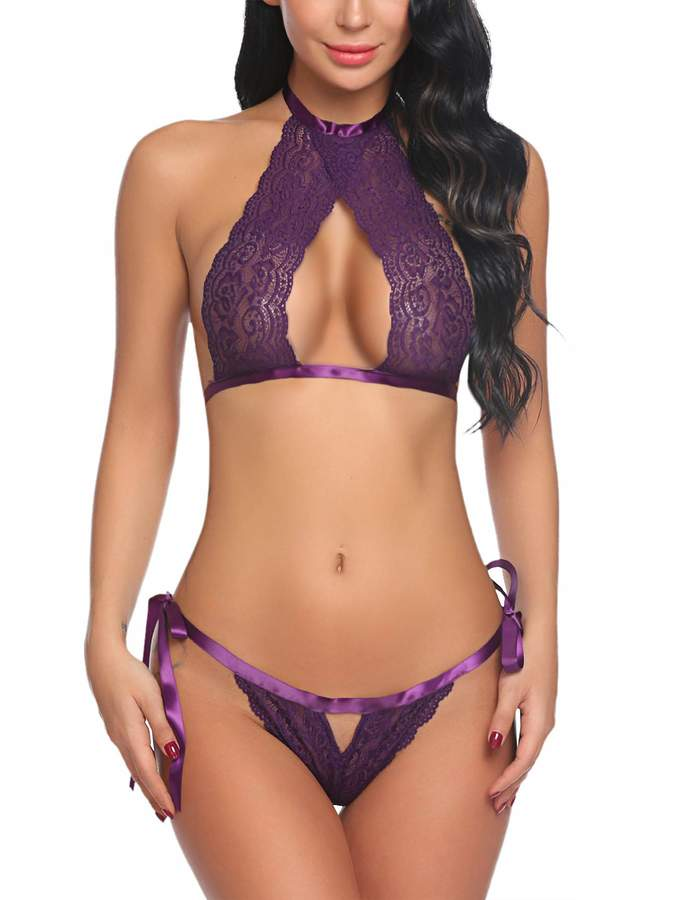 6cad2d539ce Black And Purple Bra And Knickers - ShopStyle Canada