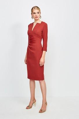 Karen Millen Sleeved Envelope Neck Dress