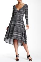 Plenty by Tracy Reese Long Sleeve Hi-Lo Printed Dress