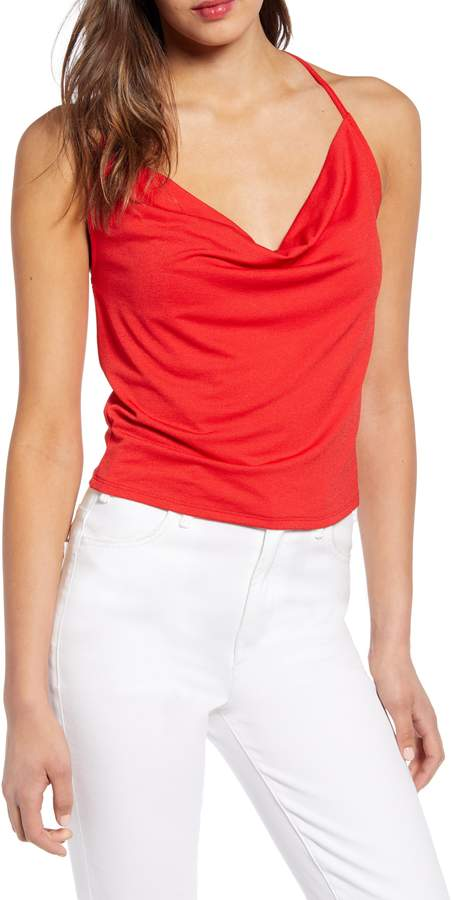 Leith Cowl Neck T-Back Tank Top