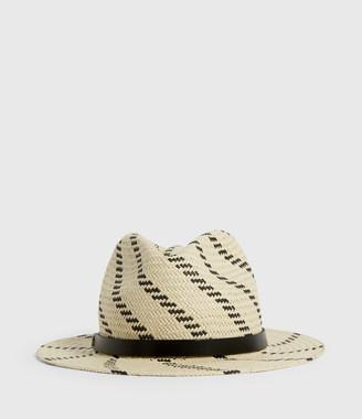 AllSaints Allie Straw Fedora Hat