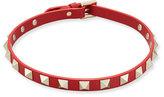 Valentino Leather Rockstud Choker Necklace