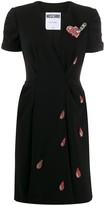 Moschino beaded v-neck dress