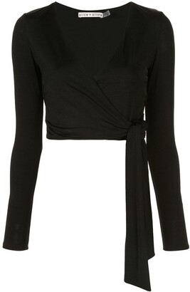 Alice + Olivia Nya cropped wrap top
