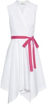 Diane von Furstenberg Marlene Wrap-effect Belted Cotton-blend Poplin Dress