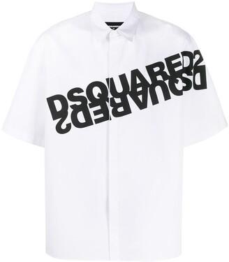 DSQUARED2 Mirror Logo Short-Sleeve Shirt