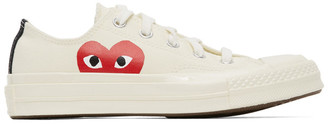 Comme des Garcons Off-White Converse Edition Half Heart Chuck 70 Low Sneakers