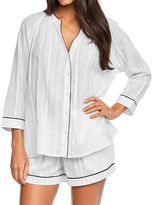 Figleaves Helena Contrast Piped Cotton Shirt