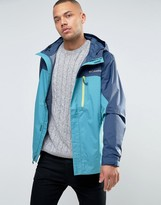 Columbia Pouring Adventure Hooded Jacket 2 Tone Waterproof In Blue