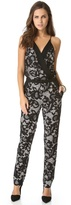Diane von Furstenberg Shany Abstract Floral Lace Jumpsuit