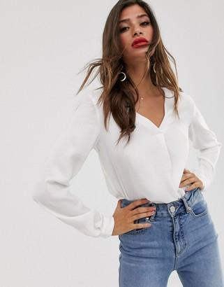 Vila wrap detail blouse-White